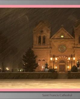 Санта Фе в снегу (видео)